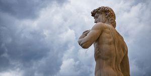 Michelangelo's David, Palazzo Vecchio, Florence, Italy