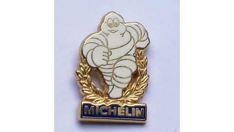 michelin man, f1 collectable pin