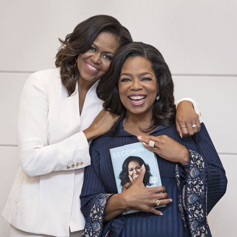 michelle obama talks with oprah about new memoir becoming
