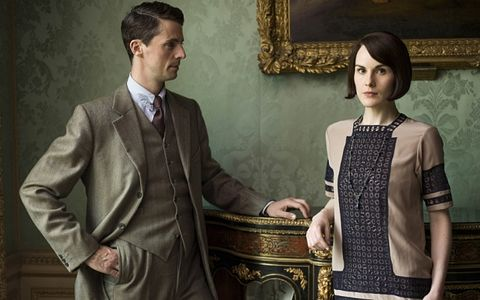 "Henry Talbot y Michelle Dockery en ""Downton Abbey"""