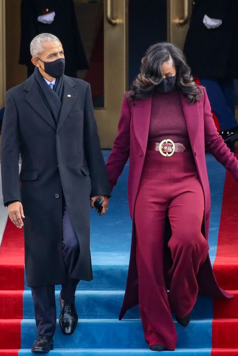 michelle  barack obama tijdens inauguratie