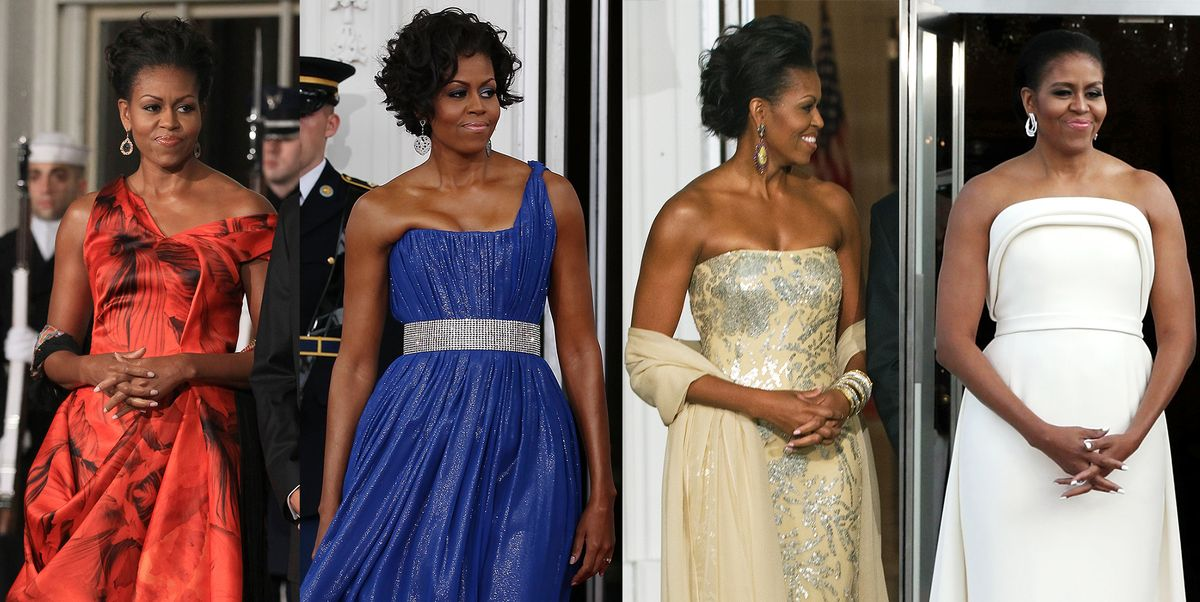 Michelle Obama S Best State Dinner Dresses First Lady