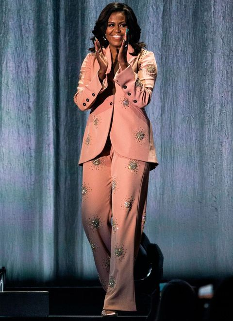Celebrities wearing trouser suits