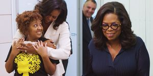 Michelle Obama and Oprah surprise high school students