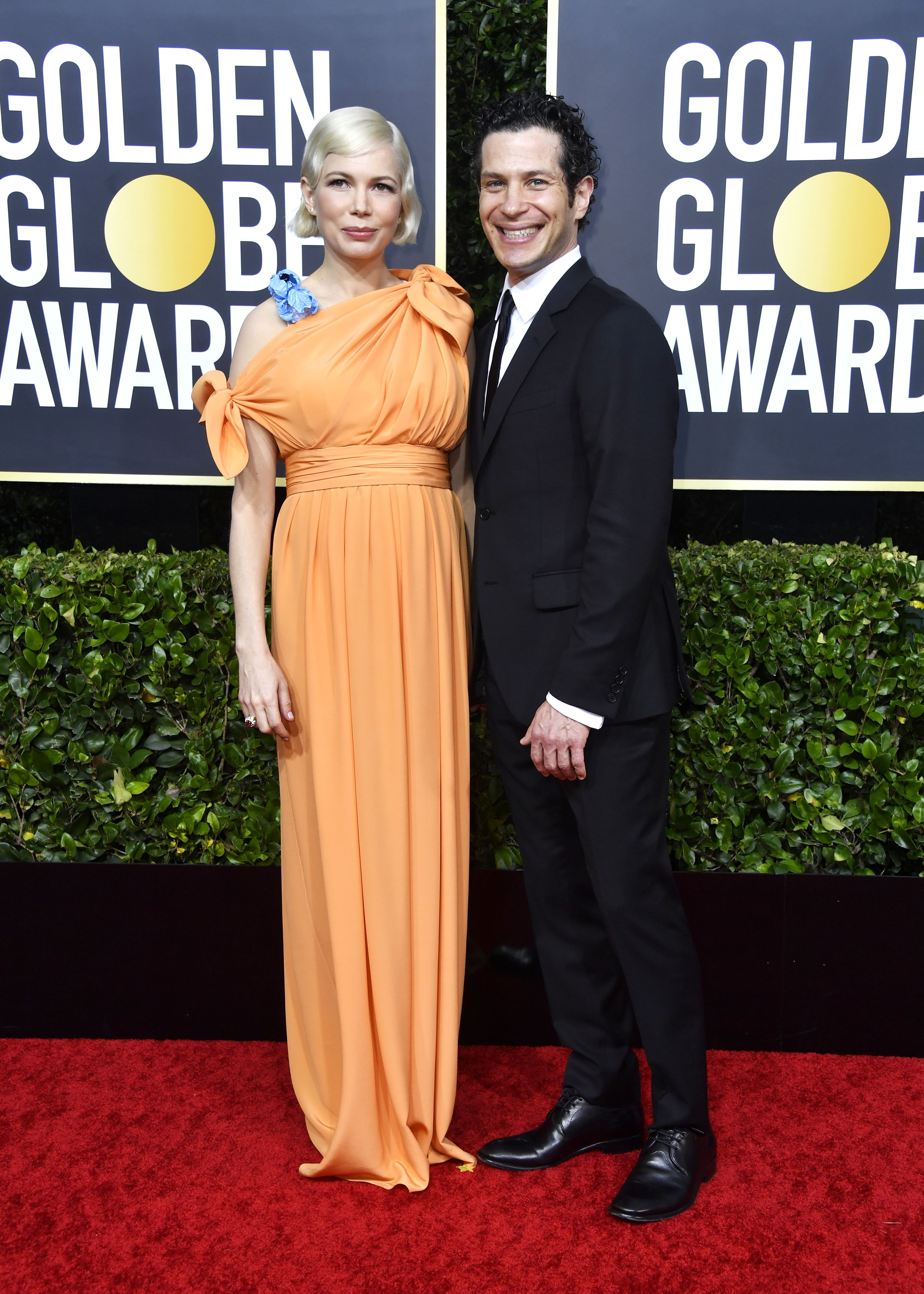 Michelle Williams Makes Her Red Carpet Debut with Her Fiancé Thomas Kail in Schlumberger Jewels