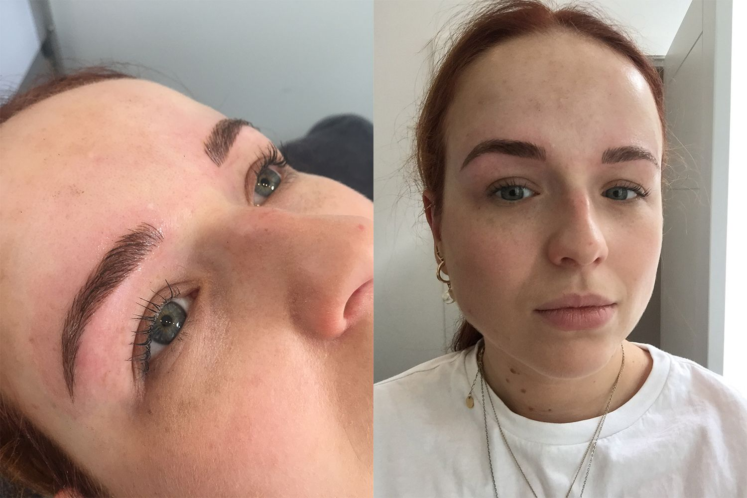 Microblading Eyebrows After Picture