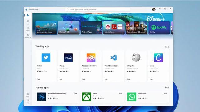 imagen de la nueva app store de microsoft