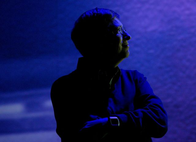 microsoft chairman bill gates delivers opening keynote at ces in las vegas