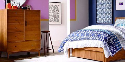 Bedroom, Furniture, Bed, Room, Bed sheet, Bed frame, Interior design, Wall, Mattress, Hardwood,