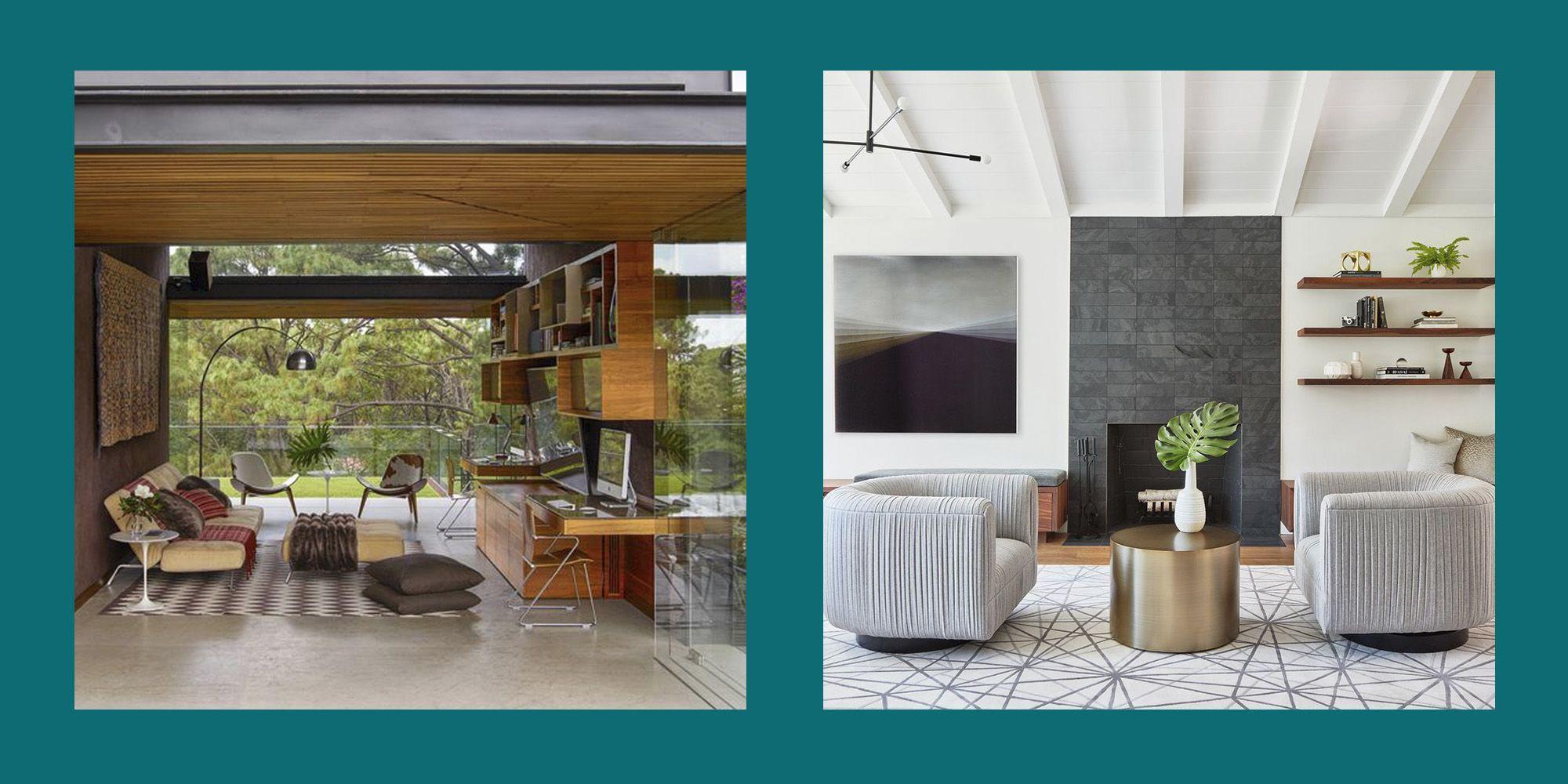 Mid Century Modern Living Room & 30 Mid Century Modern Living Rooms - Best Mid Century Decor