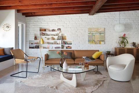 noguchi table in living room setup