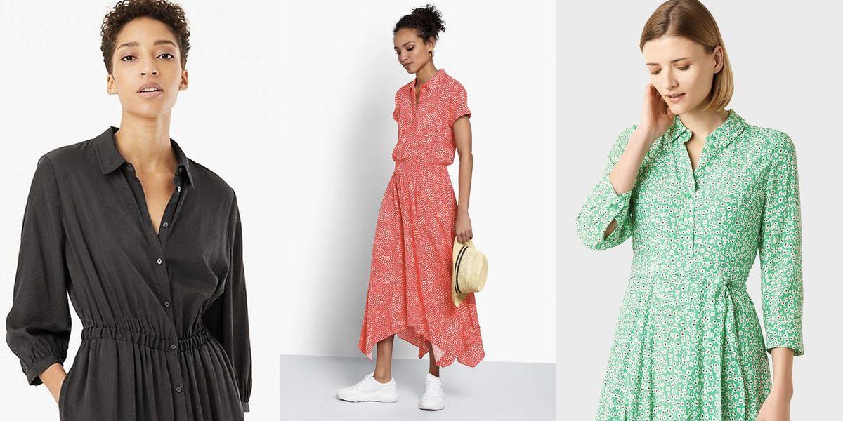 Stylish midi shirt dresses for spring/summer