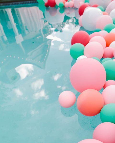 pool party ideas pool balloons