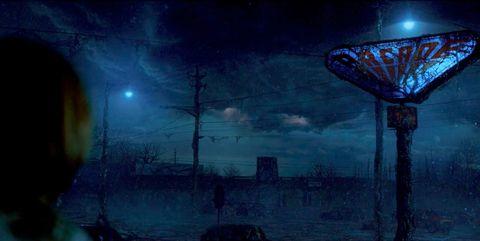 Sky, Blue, Darkness, Light, Atmosphere, Fiction, Midnight, Night, Cg artwork, Space,