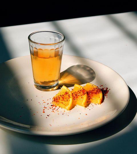 Drink, Food, Ingredient, Orange juice, Old fashioned glass, Crodino, Beer glass, Liqueur, Apple cider, Still life photography,