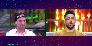 Alejandro Albalá y Miguel Frigenti protagonizan un momento de tensión en el directo de 'GH Dúo'