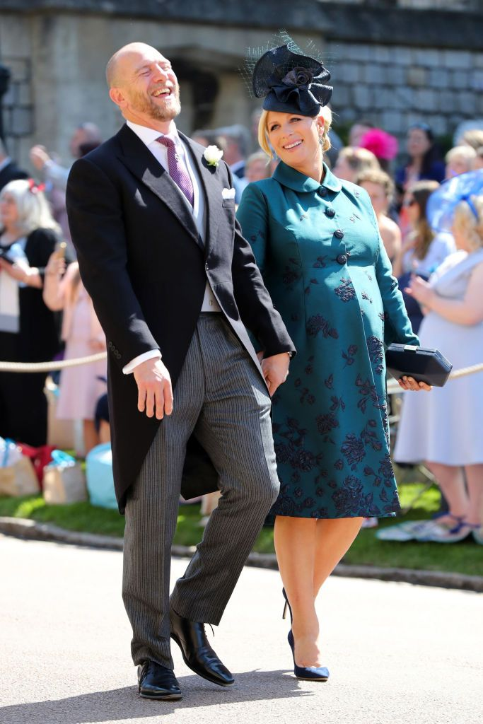 Mike and Zara Tindall share a laugh.