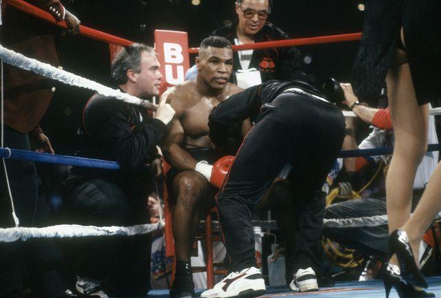 mike tyson, durante una de sus peleas de boxeo