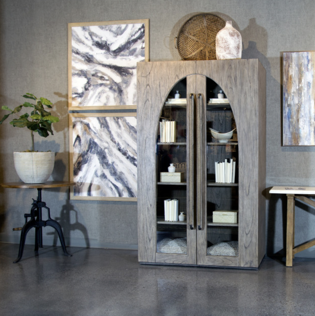 mikel welch furniture collection with cabinet inspired by cathedral doors