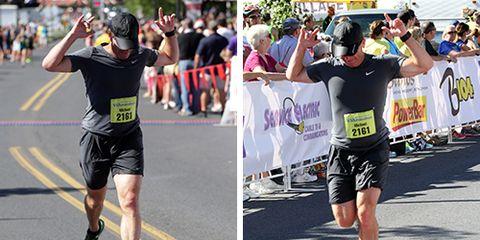 Mike Rossi - 2014 Via Marathon Finish