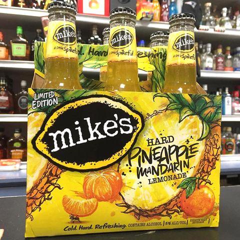 a 6 pack of mike's hard limited edition pineapple mandarin lemonade drinks