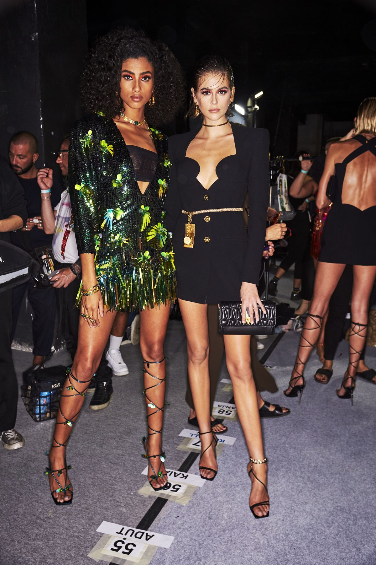 Exclusive Backstage Photos from Versace Spring/Summer 2020