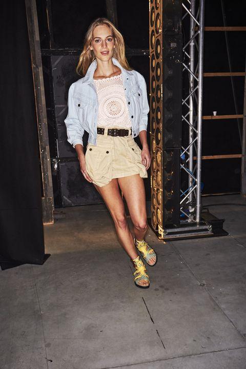 Fashion model, Fashion, Clothing, Fashion show, Street fashion, Footwear, Fashion design, Leg, Outerwear, Denim,