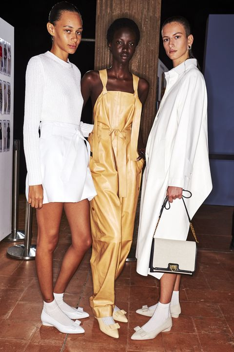 White, Clothing, Fashion, Fashion model, Fashion design, Outerwear, Leg, Event, Dress, Street fashion,