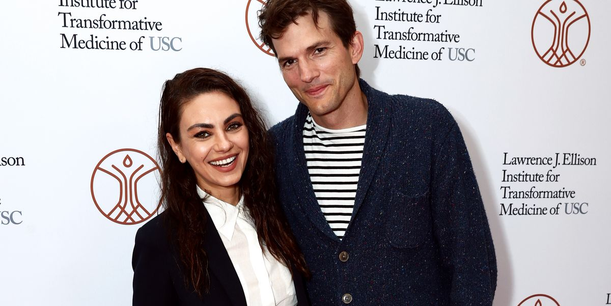 Mila Kunis and Ashton Kutcher Made an Extremely Rare Red Carpet Appearance Together