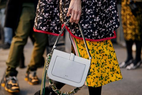 Street fashion, Yellow, Fashion, Snapshot, Footwear, Street, Design, Fashion accessory, Dress, Black-and-white,