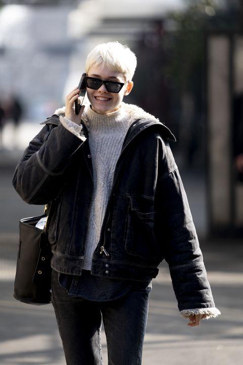Street fashion, Clothing, Photograph, Jacket, Fashion, Eyewear, Outerwear, Snapshot, Sunglasses, Fur,