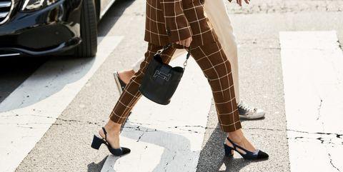 Footwear, Street fashion, Leg, Eyewear, Fashion, Shoe, Brown, High heels, Sunglasses, Joint,