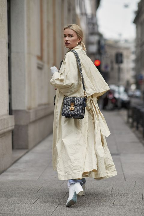 Street fashion, Clothing, White, Fashion, Outerwear, Snapshot, Costume, Footwear, Beige, Dress,
