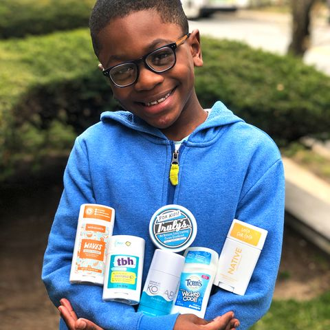 miles mitchell testing kids deodorants