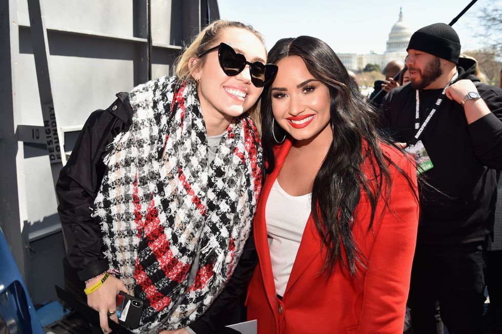 Miley Cyrus Told Demi Lovato She Struggled With Body Image for Years After VMAs Performance