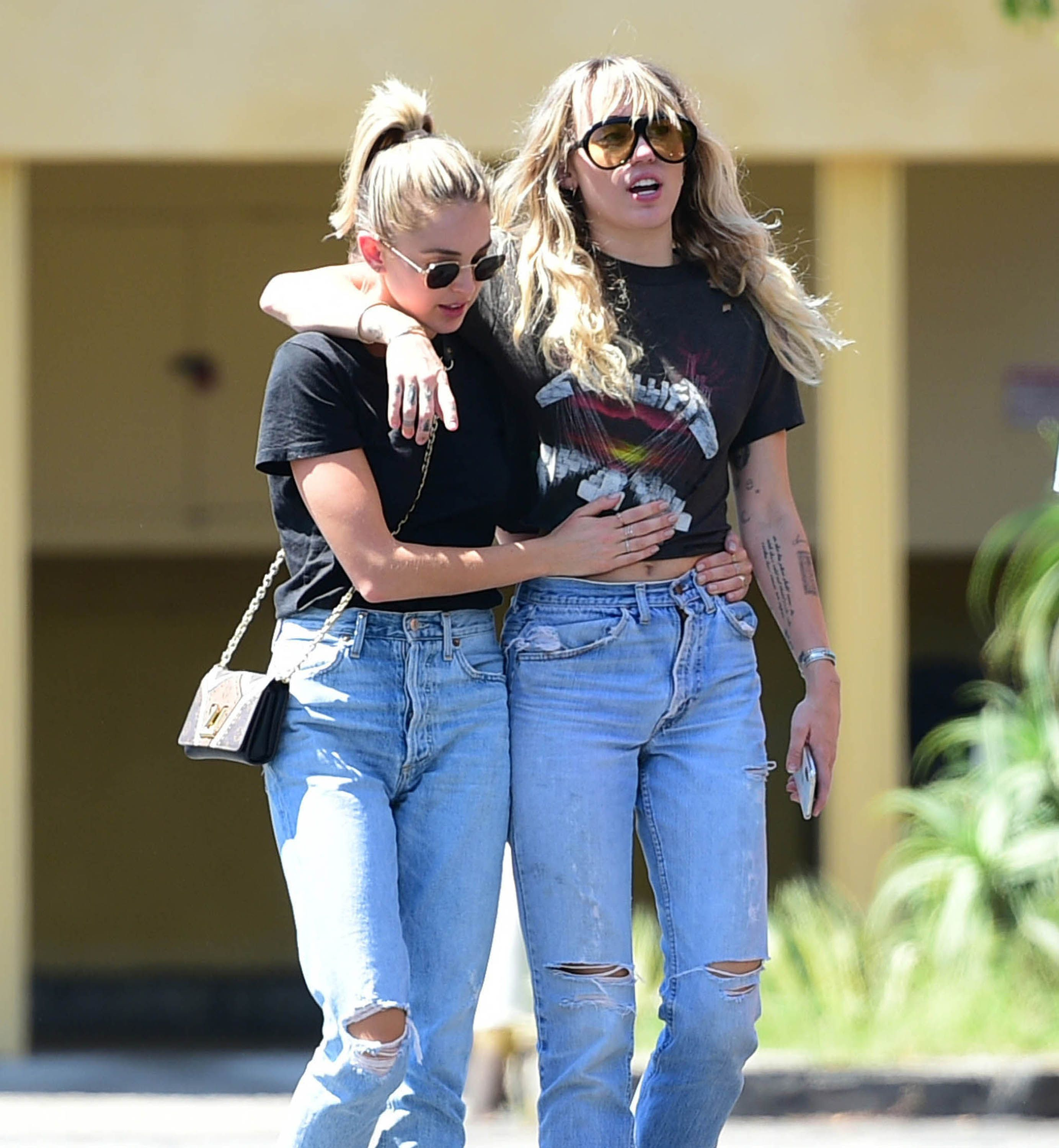 Miley Cyrus and Kaitlynn Carter Wear Matching Outfits Again During a Date in LA