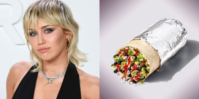 miley cyrus has her own burrito at chipotle now
