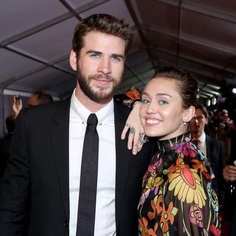 Miley Cyrus en Liam Hemsworth op de rode loper