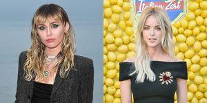 Miley Cyrus en Kaitlynn Carter, ieder op een ander rodeloperfeest