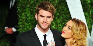 Liam Hemsworth en Miley Cyrus op de rode loper