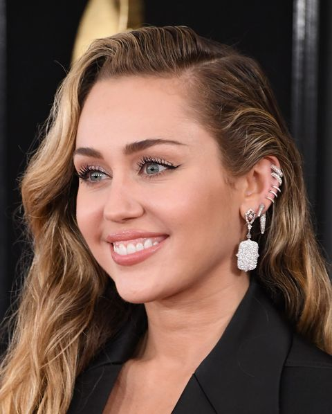los angeles, ca   february 10  miley cyrus attends the 61st annual grammy awards at staples center on february 10, 2019 in los angeles, california  photo by steve granitzwireimage