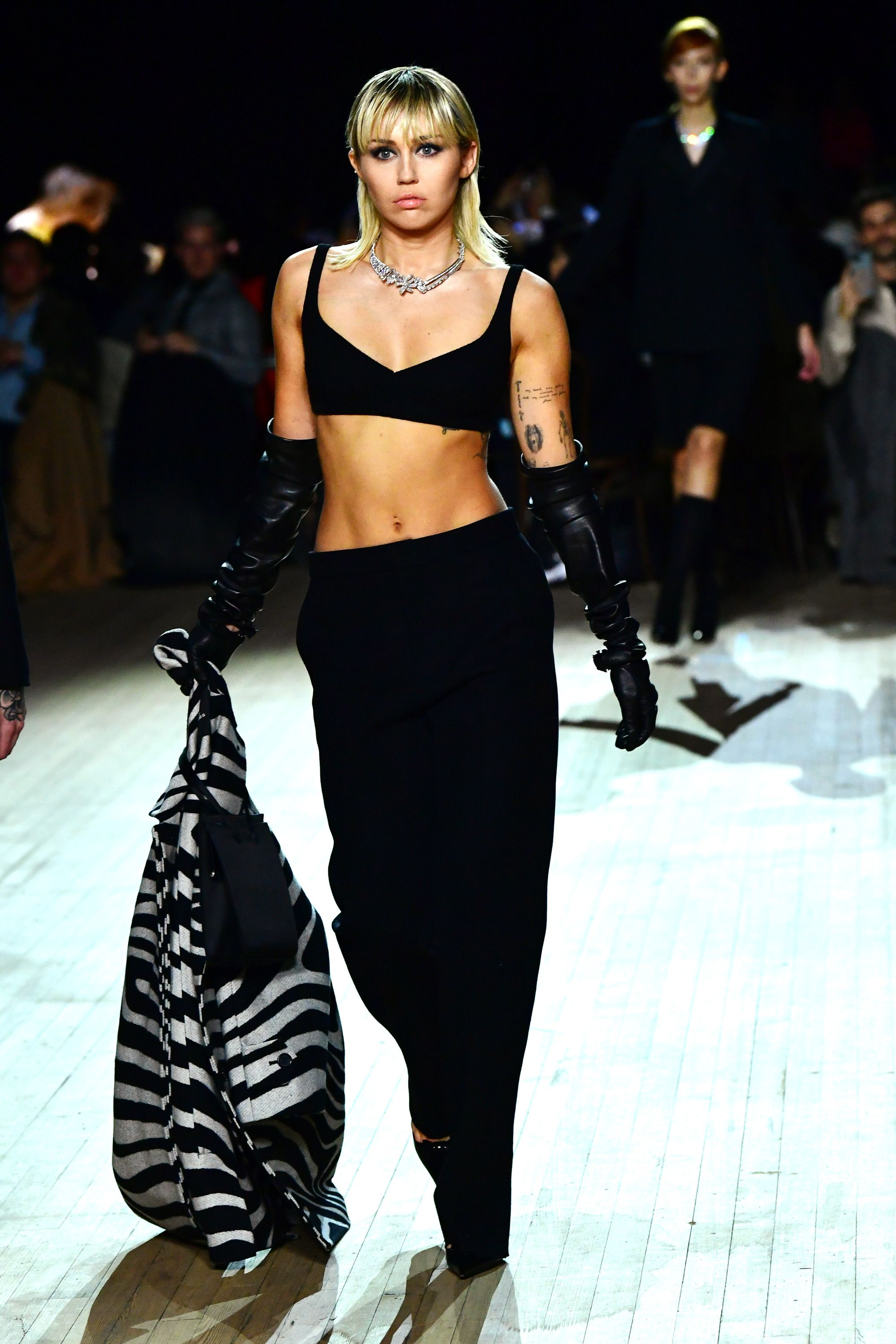 Miley Cyrus (and her abs) bring New York Fashion Week to a close on the Marc Jacobs catwalk