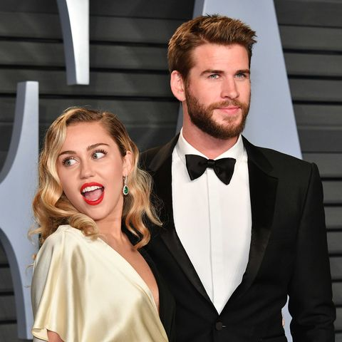 1ebb45a81 2018 Vanity Fair Oscar Party Hosted By Radhika Jones - Arrivals. Dia  DipasupilGetty Images. Liam Hemsworth and Miley Cyrus ...