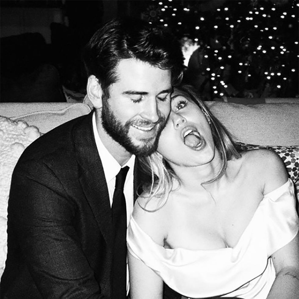 Miley Cyrus Basically Posted Her and Liam Hemsworth's Full Wedding Album for Valentine's Day