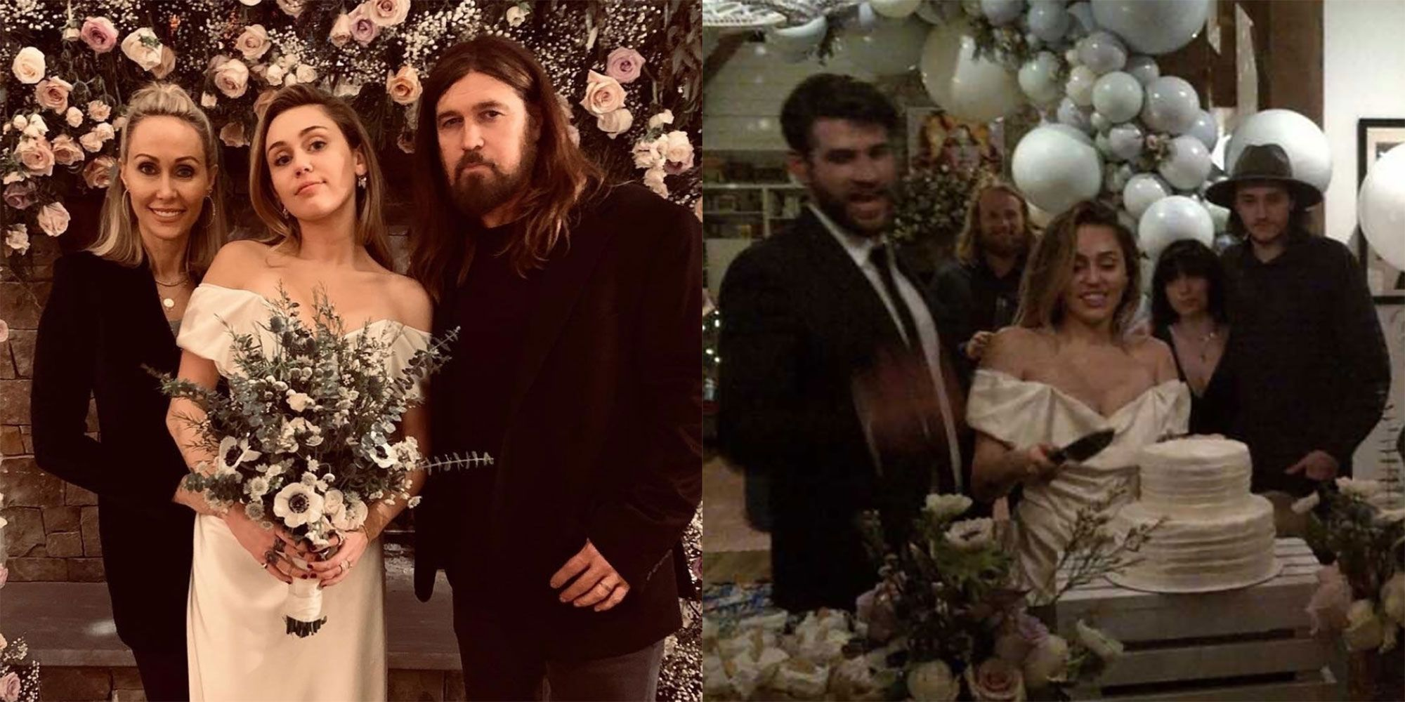 Miley Cyrus Wedding Dress.Miley Cyrus And Liam Hemsworth S Wedding Details Decor Cake And