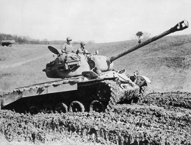 the american m 26 pershing tank in 1945