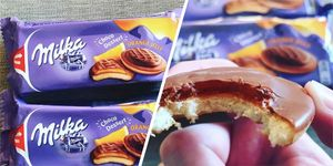 Milka jaffa cakes are a thing in the UK and we are very interested