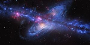 Milky Way Colliding with Andromeda