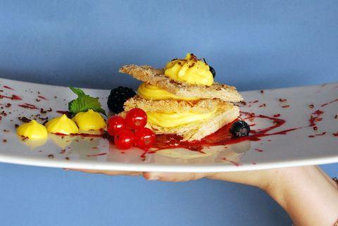 Yellow, Food, Cuisine, Junk food, Dish, À la carte food, Finger food, Garnish, Vegetarian food, Sweetness,