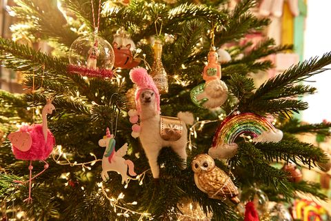 Christmas tree with modern decorations photo